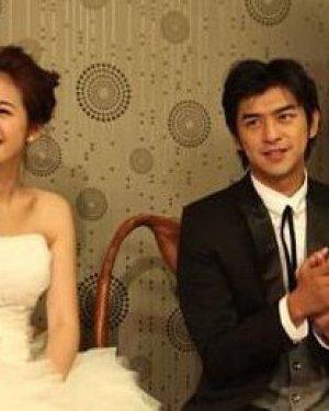 林依晨和老公婚纱照