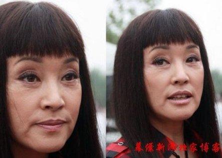 年纪大了,所以刘晓庆素颜照片总是被找出来和现在作对比,从对比