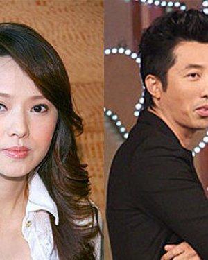 庾澄庆与老婆伊能静结婚照